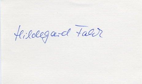 1972 Munich Athletics 800m Gold HILDEGARD FALCK Autograph 1980s