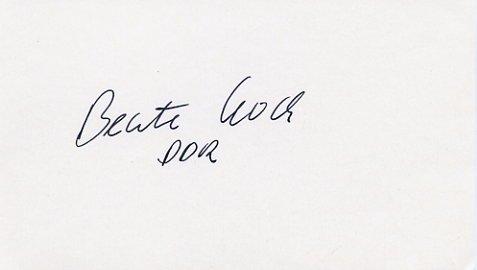 1988 Seoul Athletics Javelin Bronze BEATE KOCH Autograph 1988