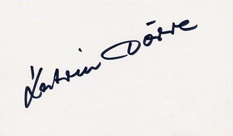 1988 Seoul Athletics Marathon Bronze KATRIN DORRE Autograph 1988