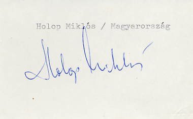 1948 London Water Polo Silver MIKLOS HOLOP Autograph 1980s