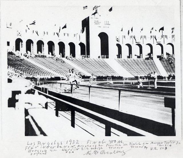 1932 Los Angeles & 1936 Berlin 400m Hurdles Olympian KELL ARESKOUG Autograph Note Signed