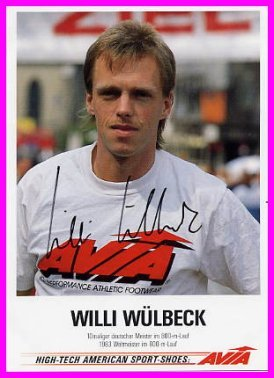 1983 Helsinki - 1st 800m World Champion WILLI WULBECK Autographed Photo