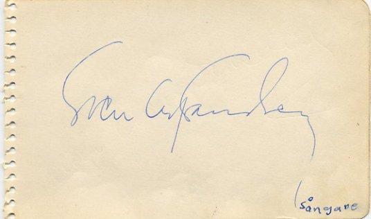 Popular Swedish Baritone SVEN OLOF SANDBERG  Autograph 1950s