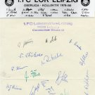 DDR - 1. FC LOKOMOTIVE LEIPZIG Football Team (Olympic) Autographs (21) from 1980