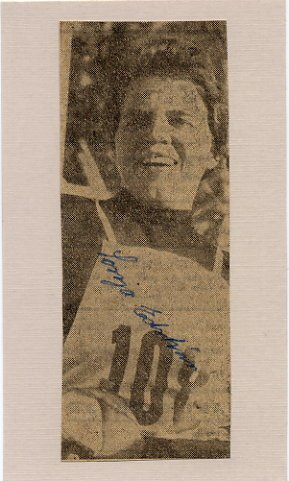 1960 Squaw Valley Cross Country Skiing Gold SONJA EDSTROM Autographed Picture 1950s