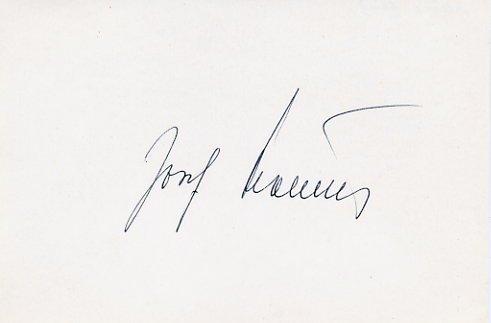 1948 London & 1952 Helsinki Canoeing Gold JOSEF HOLECEK Autograph 1981 #2