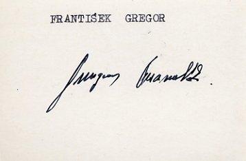 1964 Innsbruck Ice Hockey Bronze FRANTISEK GREGOR  Autograph 1980s