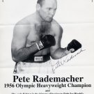 1957 PETE RADEMACHER vs. FLOYD PATTERSON Hand Signed 8x11