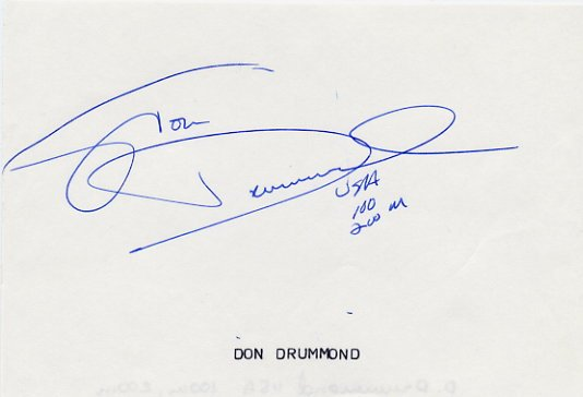 2000 Sydney Athletics 4x100m Relay Gold JON DRUMMOND Autograph 1990s