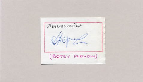 Bulgaria - Football - 1962, 1966, 1970 FIFA World Cup DINKO DERMENDZHIEV Autograph 1966