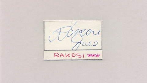 1960 Rome Football Bronze & 1962-66 FIFA World Cup GYULA RAKOSI Autograph 1963