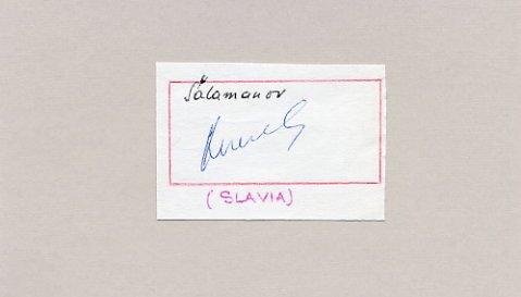 1960 Squaw Valley Alpine Skiing & 1966, 1970 FIFA World Cup ALEKSANDAR SHALAMANOV Autograph 1966