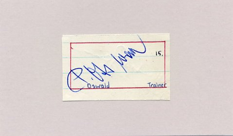 Eintracht Frankfurt - German Football Player & Coach PAUL OSSWALD Autograph 1960