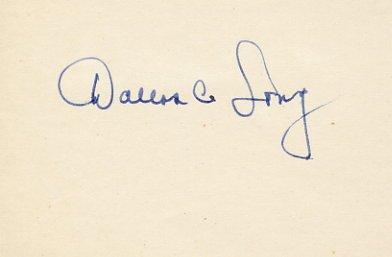1964 Tokyo Athletics Shot Put Gold DALLAS LONG Autograph