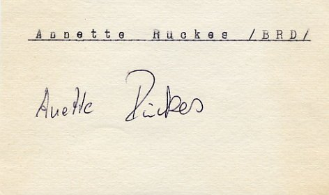 1972 Munich Athletics 4x400m Relay Bronze ANETTE RUCKES  Autograph 1970s