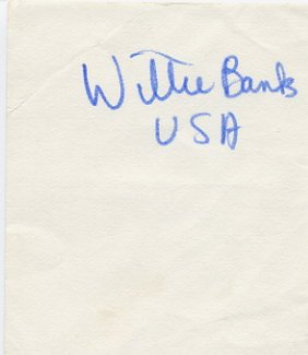 1980s Triple Jump Star & WR WILLIE BANKS Autograph 1983