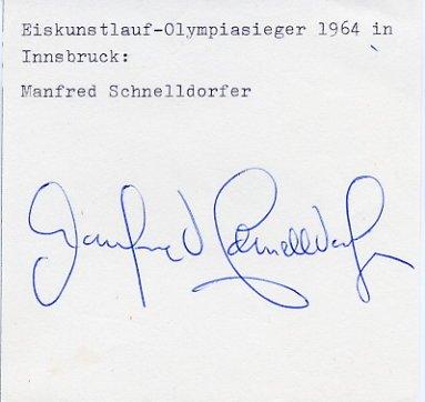 1964 Innsbruck Figure Skating Gold MANFRED SCHNELLDORFER Autograph