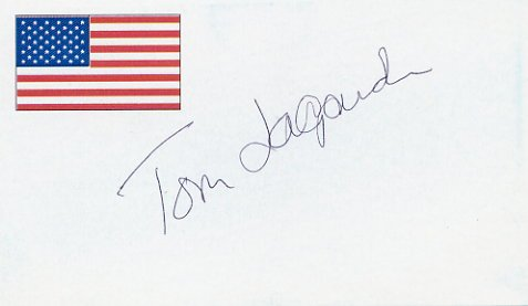 1976 Montreal Basketball Gold TOM LaGARDE Autographed Card