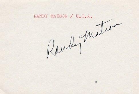 1968 Mexico City Athletics Shot Put Gold & WR  RANDY MATSON Autograph 1980s