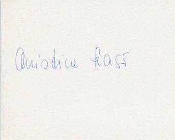1976 Montreal Athletics Pentathlon Silver CHRISTINE LASER Autograph