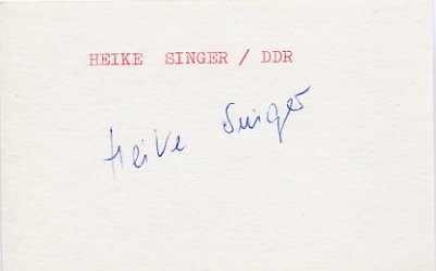 1988 Seoul Canoeing Gold HEIKE SINGER Autograph