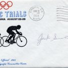 1960-64-68 Cycling Olympian JACK SIMES Autographed Cover 1968 #2