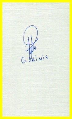 1960 Rome Sailing Gold GEORGIOS ZAIMIS Autographed Card