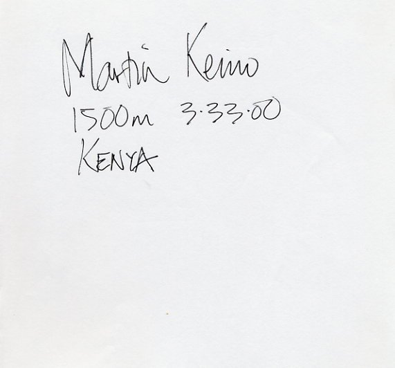 Arizona - Two-Time NCAA Champion MARTIN KEINO Autograph