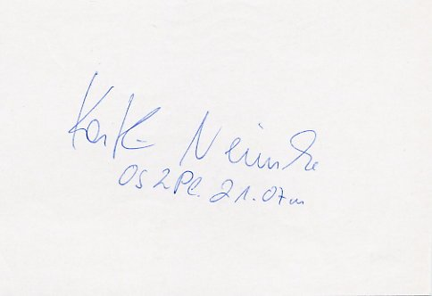 1988 Seoul & 1992 Barcelona Athletics Shot Put Medalist KATHRIN NEIMKE Autograph