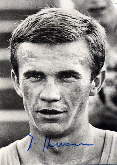 1966 & 1969 European Championships 10000m Gold JURGEN HAASE  Autographed Photo 4x6