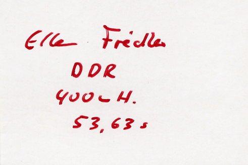 1988 Seoul Athletics 400m Hurdles Bronze ELLEN FIEDLER Autograph