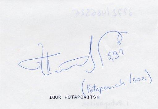 1996-2000 Two-Time Pole Vault Olympian IGOR POTAPOVICH Autograph