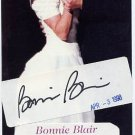 Five-time Speed Skating Gold Medalist BONNIE BLAIR Autograph 1998 & Wedding Pict