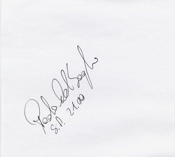 Italy - 1996 Atlanta Shot Put Olympian PAOLO DAL SOGLIO Autograph