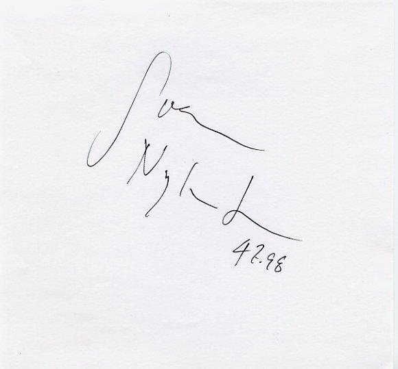 Three-Time European Championships 400m Hurdles Medalist SVEN NYLANDER Autograph