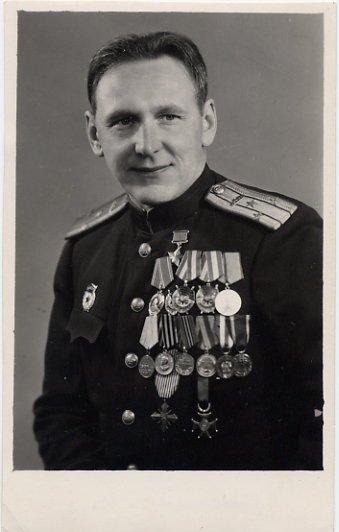 Soviet World War II Hero Colonel LUDVIG KURIST Autographed Photo
