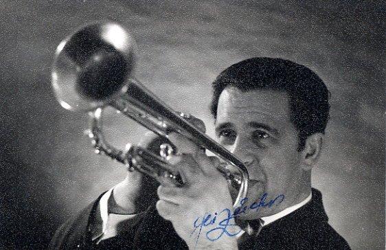 Famous Estonian Trumpeter ABI ZEIDER Autographed Photo 1960s