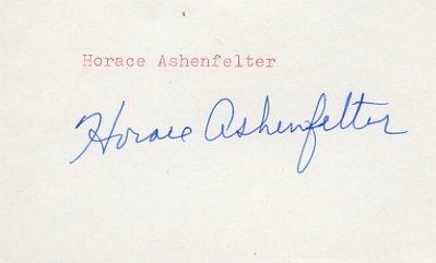 1952 Helsinki Steeplechase Gold HORACE ASHENFELTER Autograph 1980s #2