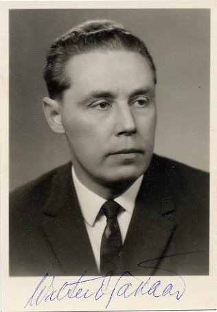 Estonian Composer & Publicist VALTER OJAKAAR Autographed Photo 1960s