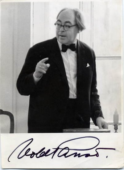 Legendary Estonian Theater Director VOLDEMAR PANSO Autographed Photo 1968