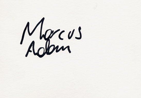 1992 Barcelona Athletics & 2002 Salt Lake City Bobsleigh Olympian MARCUS ADAM Autograph