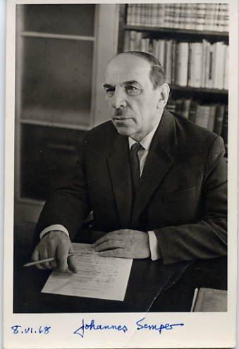 Siuru Group - Estonian Writer & Poet JOHANNES SEMPER Autographed Photo 1968
