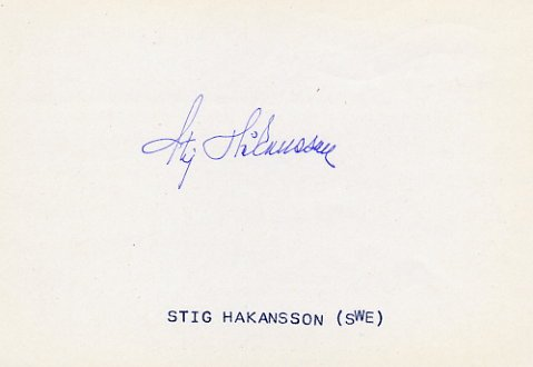 1946 Oslo European Championships 4x100m Relay Gold STIG HAKANSSON Autograph