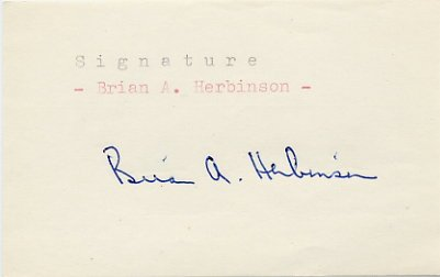1956 Stockholm Equestrian Bronze BRIAN HERBINSON Autograph 1980s #2