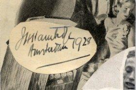 1928 Amsterdam Track & Field 200m Olympian JOHN HAMBIDGE Autograph 1948