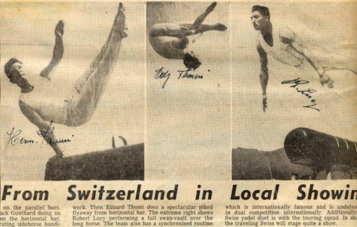 1948 London Gymnastics Silver ROBERT LUCY Autograph 1950s (+2)