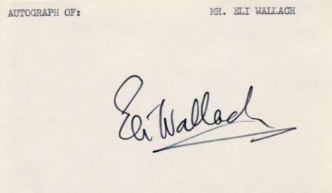American Actor ELI WALLACH  Autograph 1970s