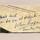Legendary BBC Commentator JOHN SNAGGE Autograph 1948