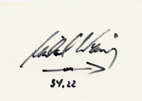 1978 European Championships Javelin Gold MICHAEL WESSING Autograph