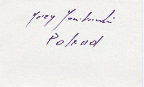 1972 Munich & 1976 Montreal Fencing Olympian JERZY JANIKOWSKI Autograph 1980